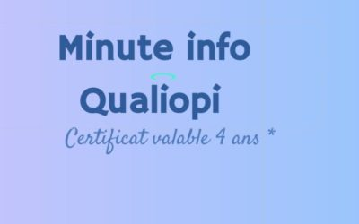 Certification Qualiopi – valable 4 ans